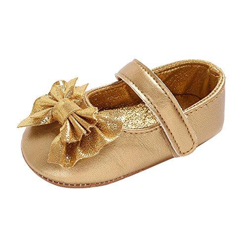 Chaussures Bébé Binggong Chaussures Baby Infant Kids Girl Bow en Cuir Souple Semelle Simple Enfant Nouveau-né Chaussures
