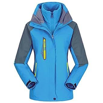 Image indisponible. Image non disponible pour la couleur   emansmoer Femme  3 en 1 Veste Coupe-Vent Imperméable Outdoor Sport Camping ... 432464f01246