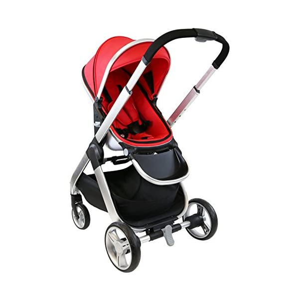 iSafe Marvel 3in1 Travel System Includes Car Sea & Carrycot (Red Pearl) iSafe  4