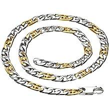 Daesar Joyería Collares de Hombre Cadena Colgantes Marinero Oro Plata Cruz Colgantes de Aro 59X1cm