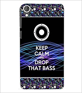 PrintDhaba Quote D-2522 Back Case Cover for HTC DESIRE 820 (Multi-Coloured)