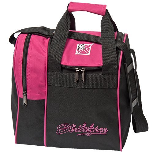 KR Strikeforce Rook Tragetasche, Unisex-Erwachsene, Rook Single Tote Bowling Bag- Pink, Rose, Single Ball