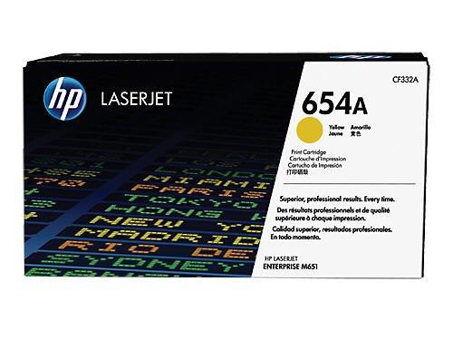 HP 654A (CF332A) Gelb Original Toner für HP Color Laserjet Enterprise M651 - Hp Business Copy