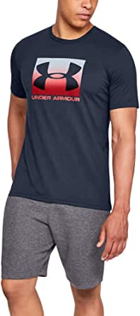 Under Armour UA BOXED SPORTSTYLE Short Sleeve, Stylish and Comfortable T Shirt for Men, Breathable Gym and Fitness Clothing Men