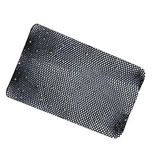 HARRYSTORE Frauen Mode Net Fischnetz Künstliche Diamanten Muster Strumpfhosen Strümpfe (Schwarz) (Fischnetz Diamant)
