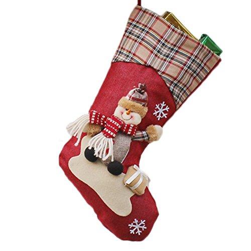 Gespout 3D Christmas Stocking Weihnachtssocke Weihnachtsstrümpfe Socken für Kamin Candy Geschenk Süßigkeiten Weihnachts hängende Strümpfe