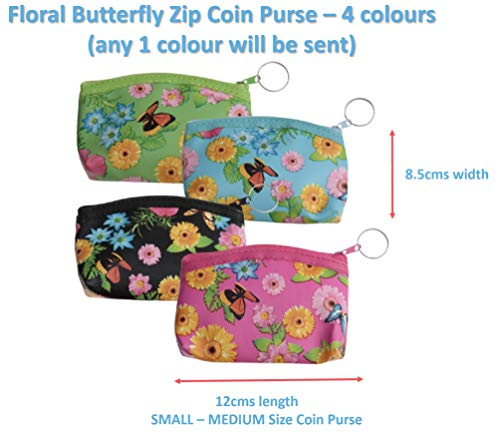 Magical Fruit Floral Butterfly Coin Purse Wallet for Girls Kids Cosplay Party Loot Goody Bag Decorative Fancy Dress Costume Birthday (Butterfly/Floral Coin Purse)