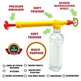 Spray bottle gun Multi-purpose Cold drink Juice Bottle Attachable for face and hair, for kids of schools,power Holi pichkari Sprayer, Indoor/Outdoor Gardening machine equipment Purposes(Pesticides, Watering plants) Water Pressure Suction pump Sprayer for Car and Bike Cleaning,Water Color Wall Painting,Kid's Water Fighting Toy,Stain Removal Kit,Bathroom Use,Glass,Screen,Lens Cleaner, Kitchen Cleaning
