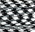 Textilkabel Stoffkabel schwarz / weiss , 3-adrig rund von Globe Warehouse bei Lampenhans.de