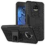 #4: DMG Protective Heavy Duty Dual Layer KickStand Back Cover Case for Moto G5s 5.2inch 2017 Edition - Black