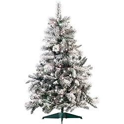 infactory Künstlicher Tannenbaum: Künstlicher Weihnachtsbaum im Schneedesign, 180 cm, mit 300 LEDs (LED Tannenbaum)