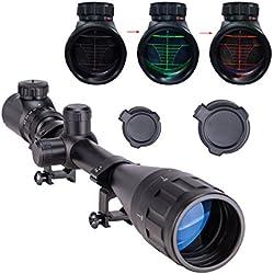 Pinty 6-24x50 AOEG Télémètre Rouge et Vert Optiques Lumineux Spot de Visée pour Lunette de Visée - Objectif Adjustable