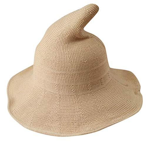 Zottom Mode-Hexe zeigte Becken-Eimer-Hut-Halloween-Baumwollstrickende Hüte für Frauen