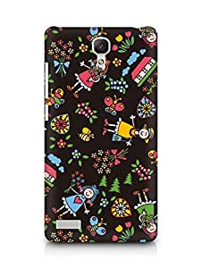 Amez designer printed 3d premium high quality back case cover for Xiaomi Redmi Note 4G (Drawing child doll bright)