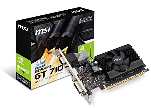 MSI Gaming GeForce GT 710 Grafikkarte (2 GB, GDDR5, 64-Bit DirectX 12, Low Profile) 2GB (Nvidia 610 2gb)
