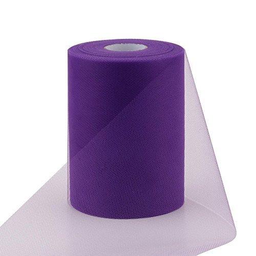 00FT) Tutu Tüll Stoff Rolle für Rock Petticoat Band Hochzeit Dekoration Schleife Geschenk durch trimmen Shop - Violett Lila (Tüll-shop)