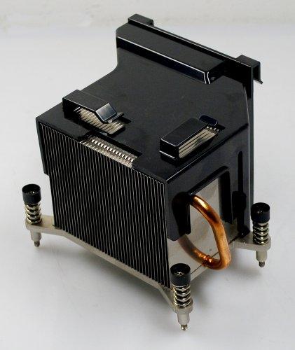 HP Compaq 480966-001 BTX CPU Kühler Kupfer Heatpipe passiv Intel Sockel 775 95W Q9400 Quad Core / mit Abluftführung (Air Duct) PJ20044 - dc7900 CMT Computer -