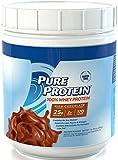 Pure Protein 100% Whey Powder, Frosty Chocolate, 1 pound tub