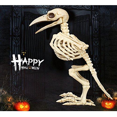 Halloween Crazy Bonez Skelett Raven Flamingo Skull Party Dekorationen für schwarz Freitag Horror (Den Für Flügel Kostüme Verkauf)