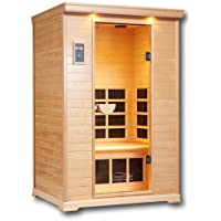 Infrared Sauna - Far Infrared Sauna for Home - 2 Person Heated Detox Therapy - Low EMF - Lifetime Guarantee by Clearlight