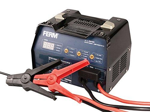 FERM Cariccabatteria avviatore di emergenza 6-12V - Protezione contro la sovraccarico - 3 regolazioni del carico