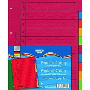 Ordner-Register, 10-teilig, extra breit: Amazon.de