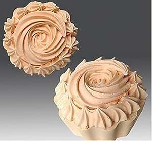 Motif cupcake Moule en silicone pour savons, Bougies, et plus