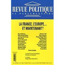 La France, l'Europe... et maintenant ?