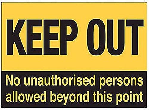 Keep Out No unbefugtem Personen Allowed... Stahl Kühlschrank Magnet (OG)