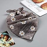 MINMINA Baby-Dreieck Handtuch Kleine Zou Kishui Handtuch Baumwolle Single-Layer-Baby-Dreieck Handtuch Frühjahr und Sommer Neugeborenen Kinder Schal, Hanf grau