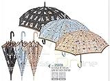 PERLETTI 25978Lady 61/8AUT Printings Cani e Gatti Antivento Ombrello