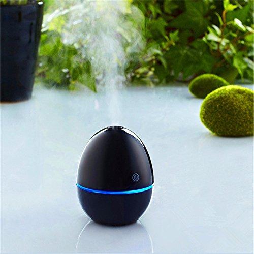 JISHUQICHEFUWU Auto Luftbefeuchter Luftreiniger Erfrischungsmittel Öl Diffusor Aromatherapie Portable Auto Nebel Maker Fogger 4Colors, schwarz (Nebel-luft-erfrischungsmittel)