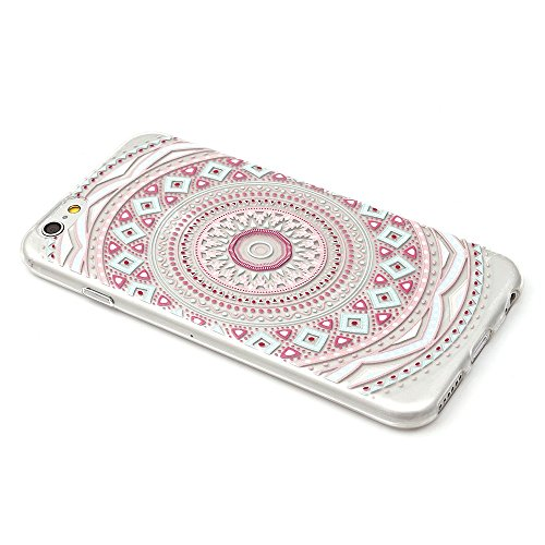 "iProtect TPU Schutzhülle Apple iPhone 6 6s (4,7"") Soft Case - flexible Hülle in transparent Avocado Design Softcase Mandala bunt"
