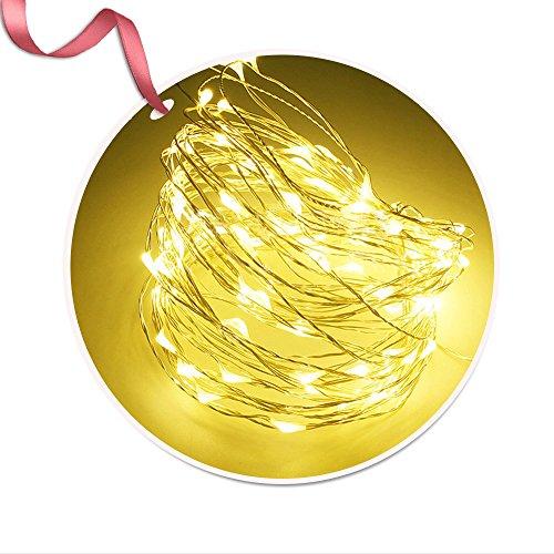 Iitrust Lichterkette Batterie betrieben (Nicht enthalten) 30 LED 3M Kupferdraht wasserdicht Sternenlicht außen und innen, Dekorative Lichter für Weihnachten, Party, Hochzeit, Feste - Warmweiß