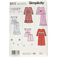 Simplicity Pattern 8272 K5 niño y de la niña del patrón de Costura para Pijamas y