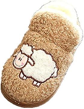 Kinder Baumwolle Slipper Schuhe Jungen Mädchen Innen Plüsch Kleinkind Babyschuhe Schneestiefel niedlichen Tier...