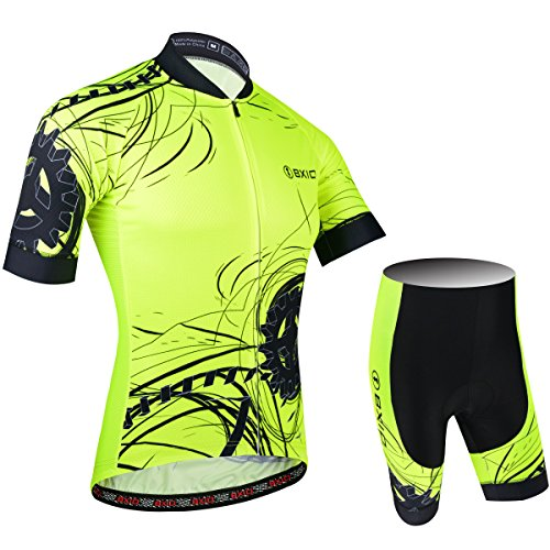 Zoom IMG-2 bxio uomini cycling jersey fluo