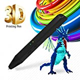 SUNLU 3D Pen Newest Gift for Adults,Teenagers, Kids, 3D Printer Printing & Drawing Pen SL600, USB Power Bank PLA and PCL Compatible 2PCS Filament Refills, Elegant Hot Black
