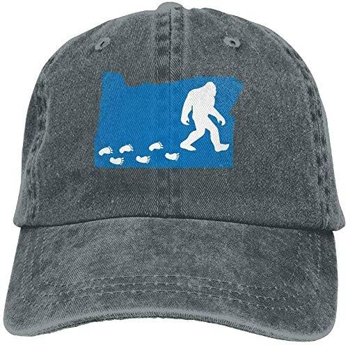 Denim Baseball Cap Oregon State Map Bigfoot Unisex Snapback Casquettes Adjustable Baseball Hat