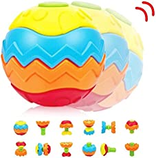 Curtis Toys presents kids' Puzzle Ball which can be transformed into many shapes, (618-13, Multicolour)