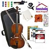 homeschool Musik–Learn To Play The Viola Pack (Glee Musik Buch Bundle)–Beinhaltet Student 40,6cm Viola w/Fall, Schleife, Bücher & All Inclusive Learning Essentials