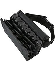 HMF 48810-02 - Bolso de camarero, monedero de camarero, incl. cambiador de monedas para euros y cinturón de transporte de 20,5 cm x 6,5 cm x 10 cm en color negro