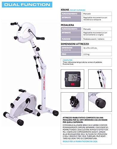 High Power Dual Function Cyclette, Bianco