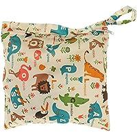 Bolsa impermeable con cremallera para pañales de bebé, lavable, reutilizable