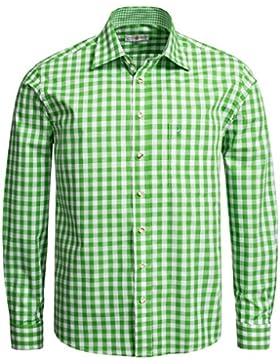Almsach Trachtenhemd Regular Fit in Hellgrün