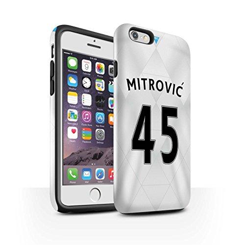 Offiziell Newcastle United FC Hülle / Glanz Harten Stoßfest Case für Apple iPhone 6 / Pack 29pcs Muster / NUFC Trikot Away 15/16 Kollektion Mitrovic