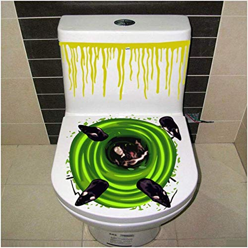 Bloody Hand Toilettendeckel Party Dekoration Aufkleber Prop Scary Zombie Home Decor 1 Stk ()
