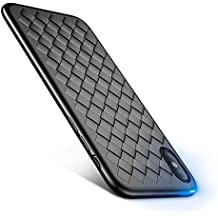 FLOVEME Iphone X case, Super Soft Luxury [Slim-Fit] [Anti-Scratch] Ultra Thin Lightweight Woven Full Protective Case for iphone X,black