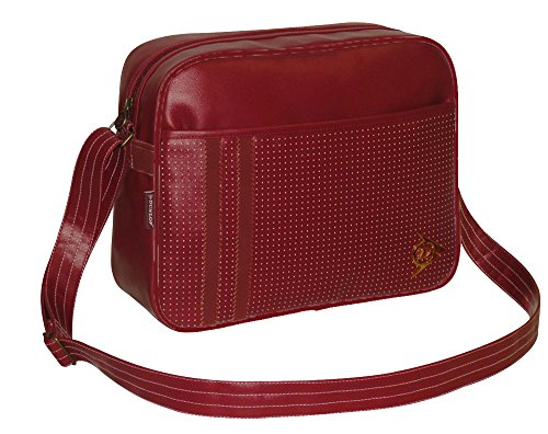 Dunlop - Men's Classic Gym,cabin,school,college,sports Shoulder Messenger Bag (BURGUNDY)