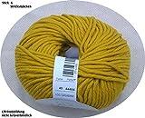 100 gr. Montego Fb. 49 senf, m. Merino, Linie 55, Brandneu, Online, Herbst/Winter 2014/15